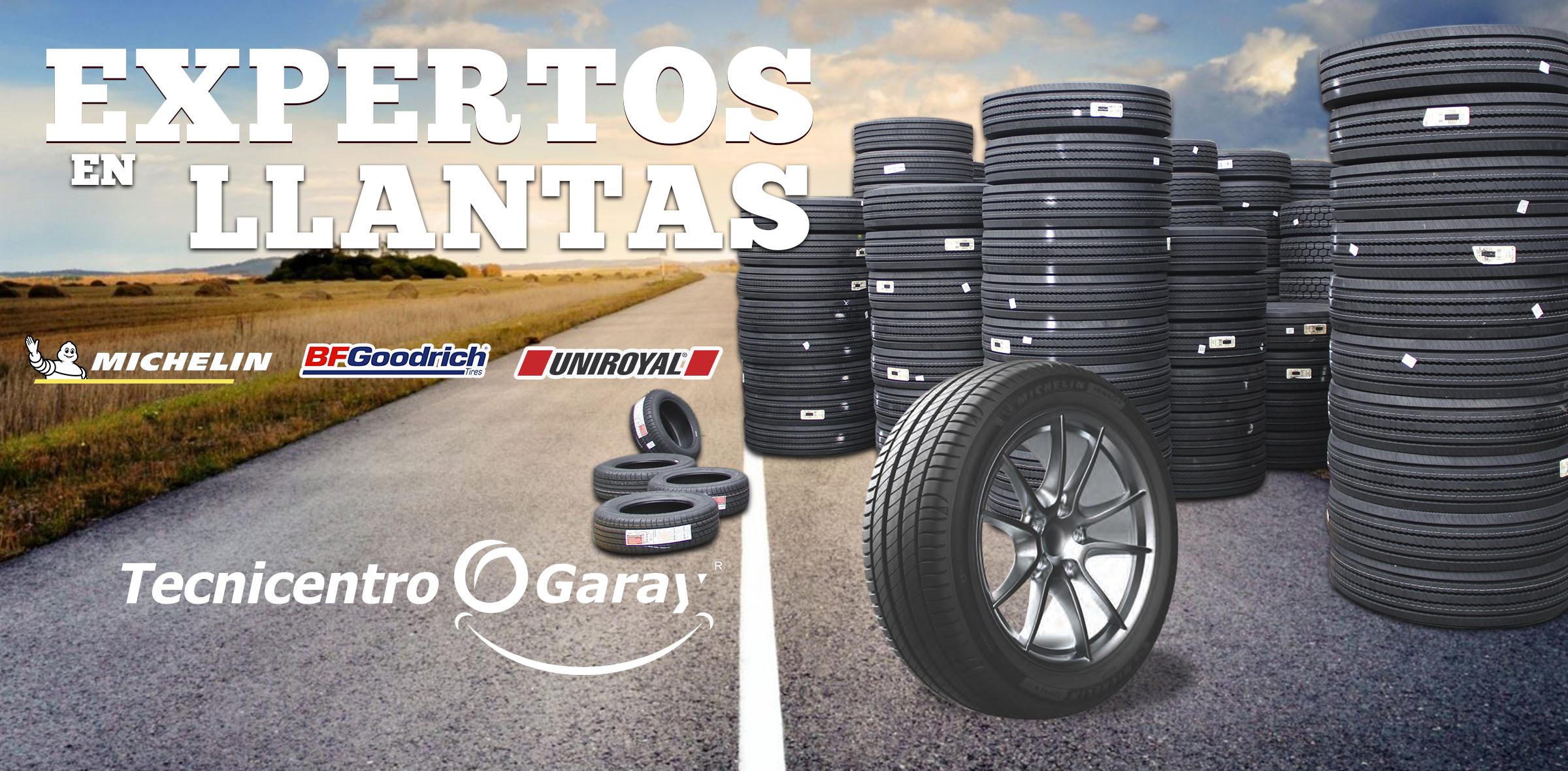 BANNER PRINCIPAL PAGINA WEB GRUPO GARA EXPERTOS EN LLANTAS